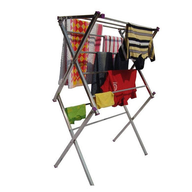 Strong Folding Stainless Steel Cloth Dryer Stand - halfrate.in