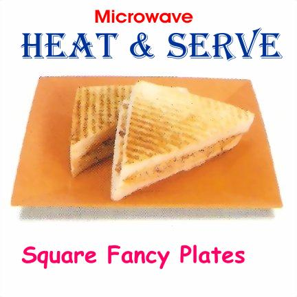 Trust Microwave Heat Square Shape Plate - halfrate.in