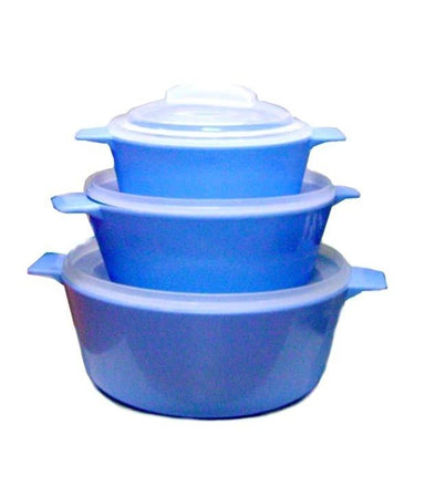 Trust Set of Three Microwave Cook, Heat and Serve Casseroles - halfrate.in