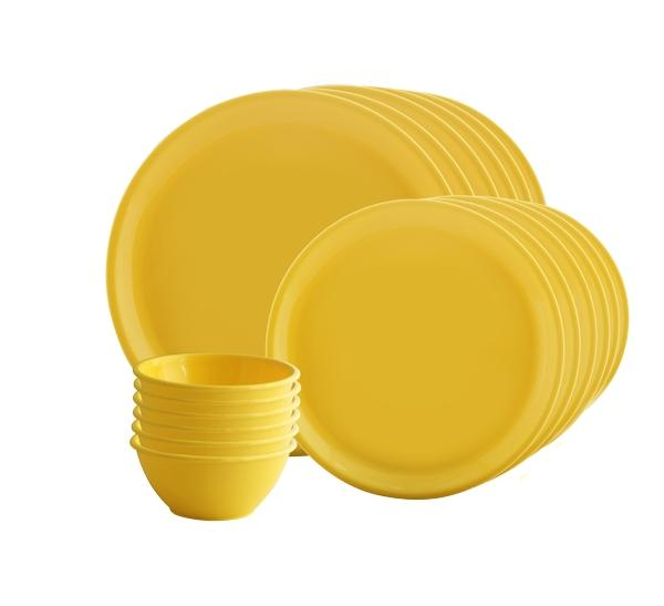 Trust Microwave Cookware 18 Pieces Dinner Set - Round - halfrate.in