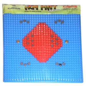 Ratehalf® Acupressure Magnetic Power Mat with Magnet Pyramids for Stress and Pain Relief - halfrate.in