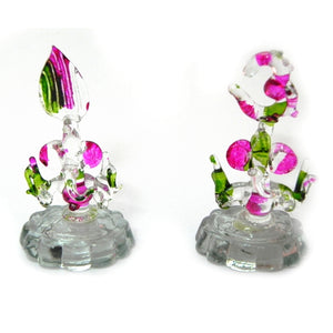 A Pair of Glass Ganesha Statue - an attractive Gift Item