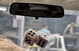 Car 3D Dice Hanging Perfume - Beautiful Product - halfrate.in