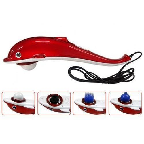 Ratehalf® DOLPHIN INFRARED HAMMER FULL BODY MASSAGER + 3 ATTACHMENTS - halfrate.in