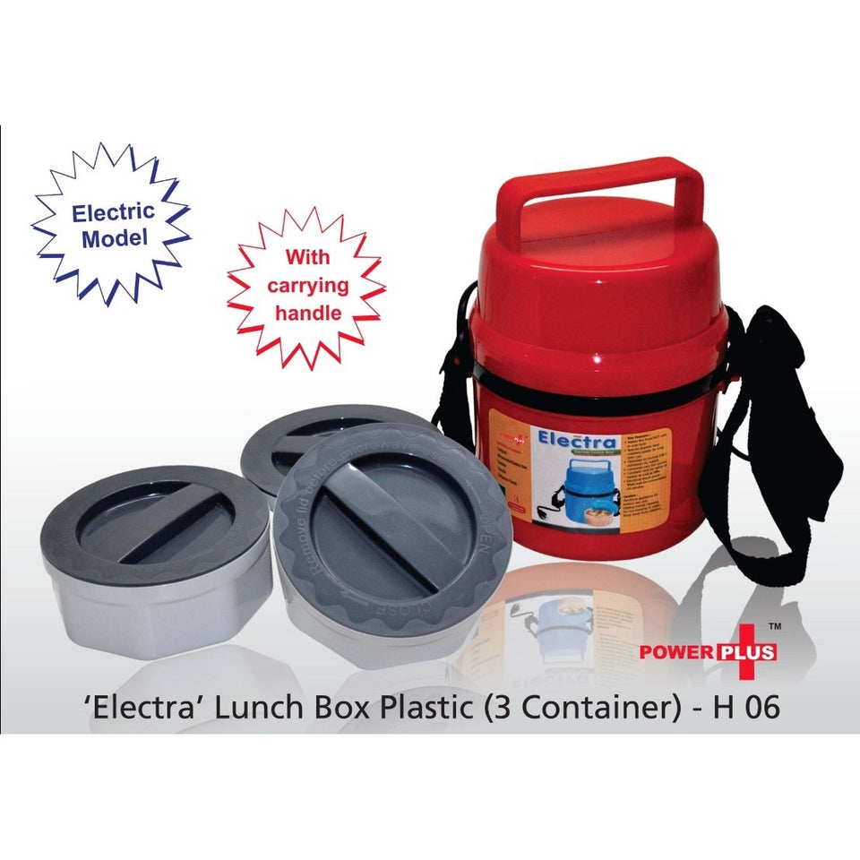 Electra 3 food grade Container Electric Lunch Box Microwaveable - halfrate.in