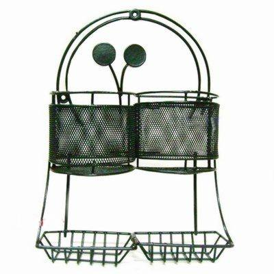 Wrought Iron Multipurpose Hanging stand - Double - halfrate.in