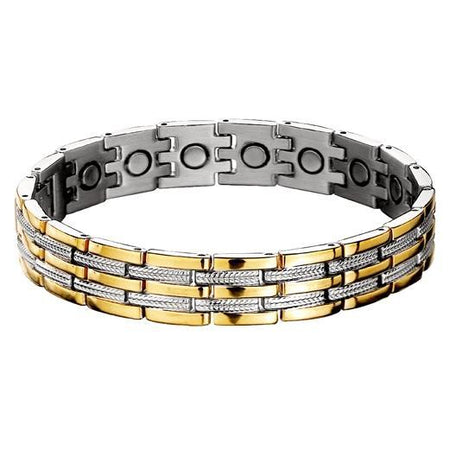Ratehalf® Bio Magnetic Titanium Bracelet Bio Magnetic Therapy Energy Health Metal Bracelet For Men & women - halfrate.in