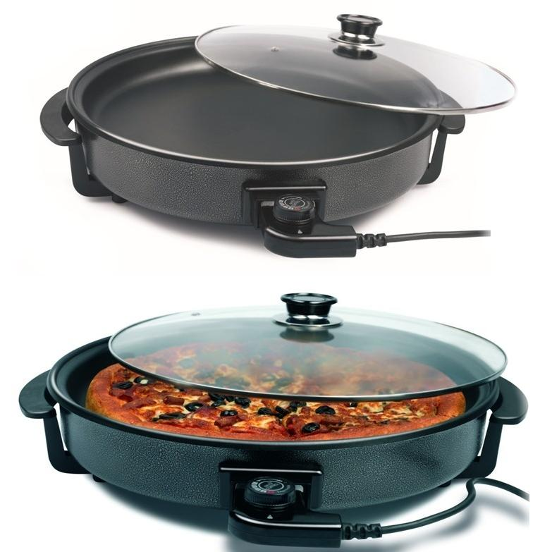 KITCHEN COOK KING MULTI COOKER NON STICK ELECTRIC PAN PIZZA PAN - halfrate.in