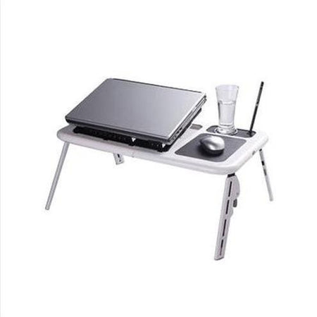 PORTABLE FOLDABLE LAPTOP TABLE STAND WITH 2 FAN USB - halfrate.in