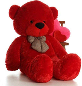 Premium Quality Huggable Teddy Bear, Plush Stuffed 180 cm (6 Feet) Red Color