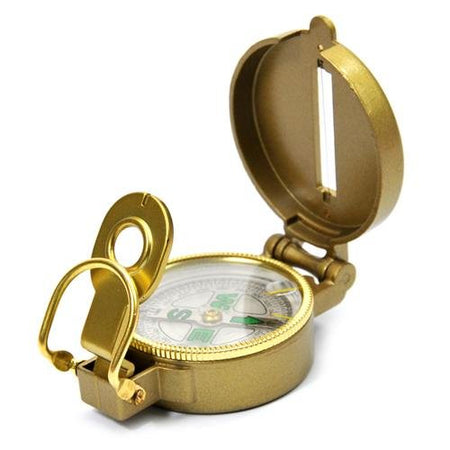 BRASS Finish MAGNETIC COMPASS with cover- useful in FengShui, Vastu and Travel