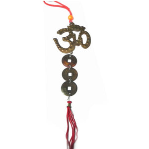 Om Hanging with Coins for Prosperity - feng shui Item
