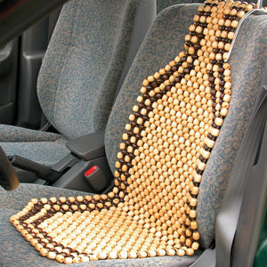 Car Wooden Bead Seat Acupressure Design Universal Size - halfrate.in