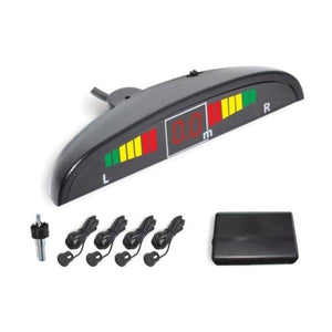 Car Reverse Parking 4 Sensor Security Led Display White With Buzzer & Display - halfrate.in