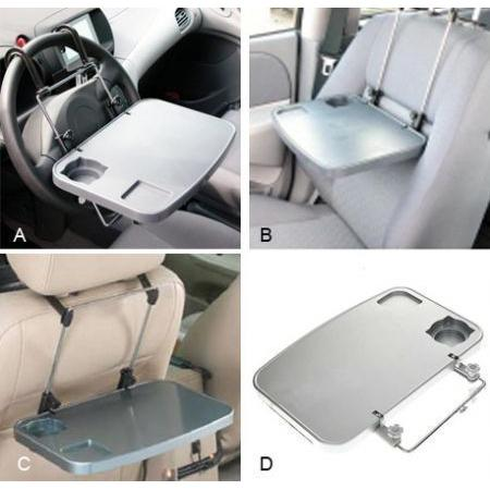 Multipurpose Car Seat Tray Desk Tray Folding Portable Car Seat Tray - halfrate.in