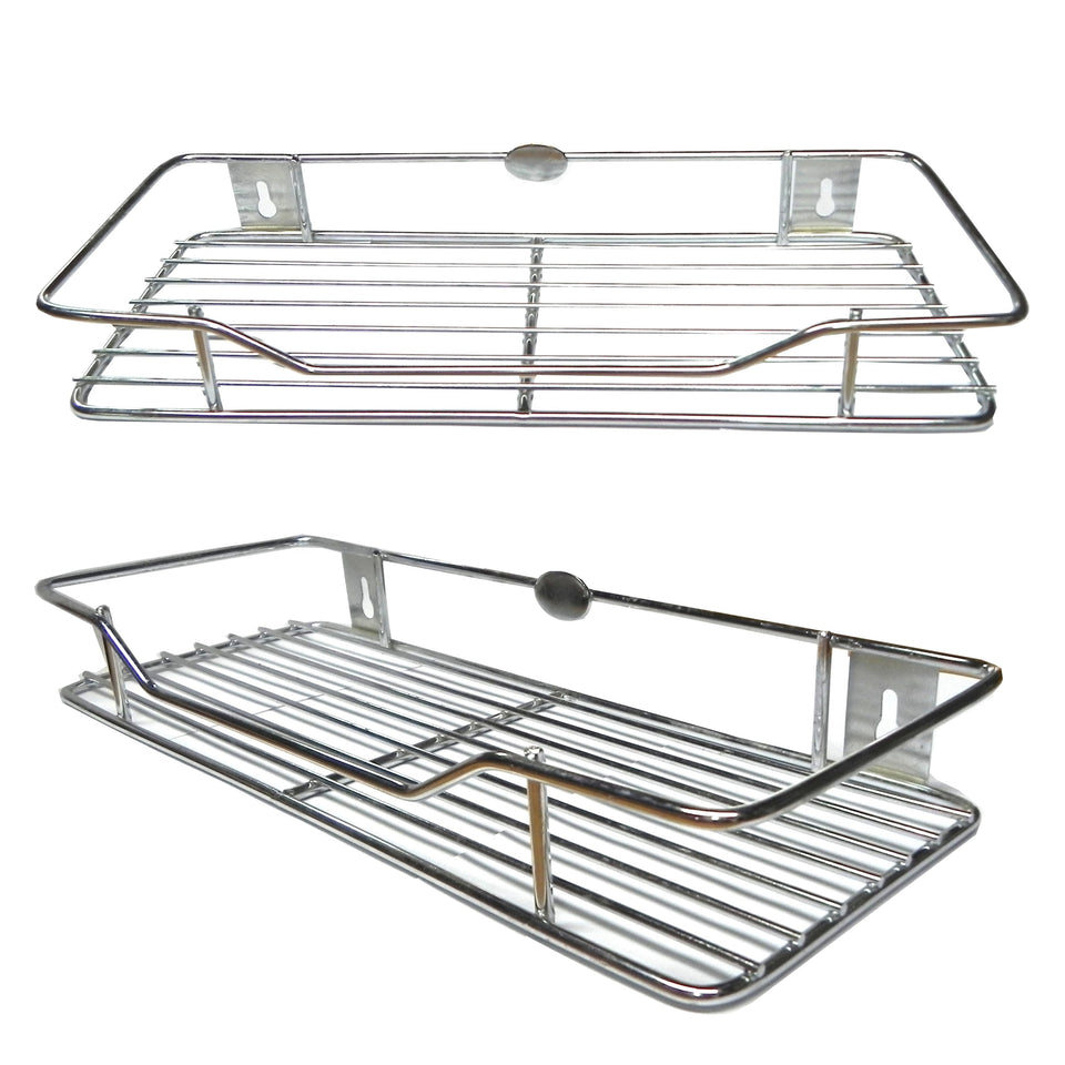 "New Stainless Steel Multipurpose Rack size 6"" X 18"" - Easy to install - halfrate.in"