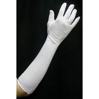 Long Sleeves Skin Protective Unisex Gloves - White - halfrate.in