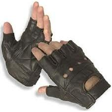 Pure leather Half finger cut Gloves for Bike Driving 100% leather - halfrate.in