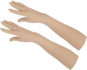 Long Sleeves Skin Protective Unisex Gloves - Skin color - halfrate.in