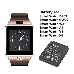 380mAH LQ S1 Smart Watch Replacement Battery for DZ09 A1, V8, X6 &W8