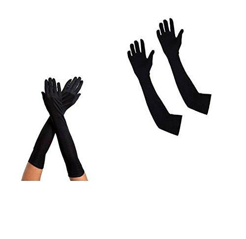 Long Sleeves Skin Protective Unisex Gloves - Black  color - halfrate.in