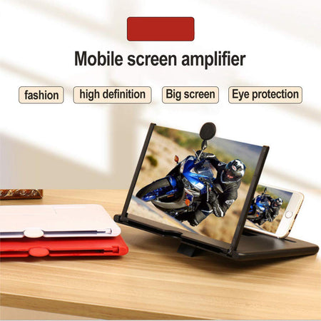 Ekdant® 3D Phone Screen Magnifying Amplifier Portable Mobile Cinema Display Enlarged Magnifier Expander for All Smartphones