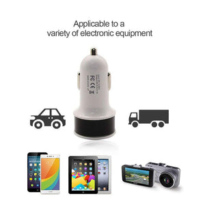 Dual output usb car charger 5v 2.1a 1a dual usb charger compatible with iphone5 6 nokia sony lg gps car charger