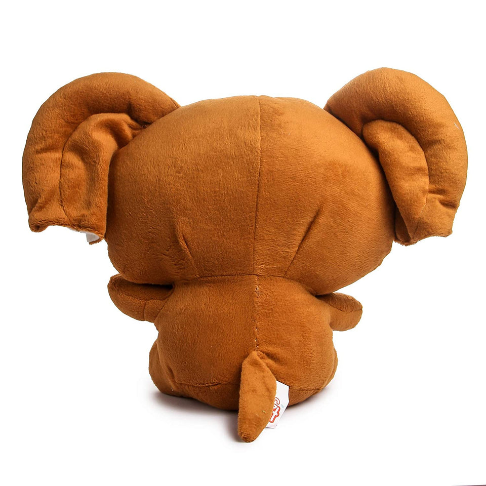 Baby Elephant Soft toy Brown Cute Eye Big Ear Elephant Stuffed Soft Plush Toy Love 32 cm  - Brown