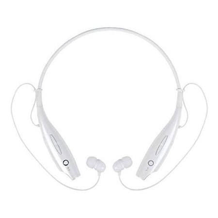 Ekdant® HBS-730 WIRELESS Neckband Bluetooth Wireless Earphones With Mic - White - halfrate.in