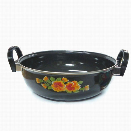 Cook and Serve Kadai and Tadka Enamelware - halfrate.in
