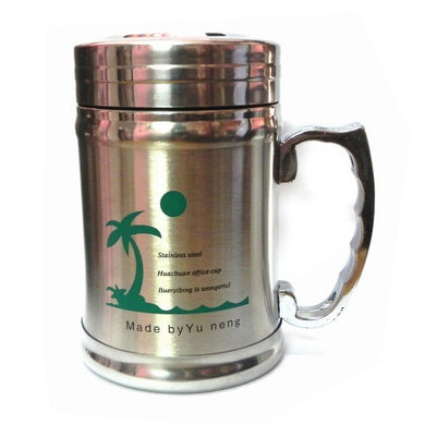 Stainless Steel Double Wall Tea Mug with Lid - halfrate.in