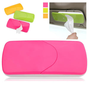 Car Sun Visor Tissue Box Paper Napkin Holder with Tissue - halfrate.in