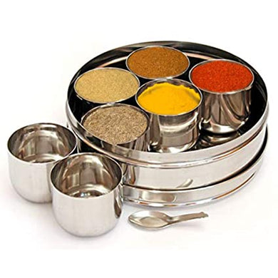Stainless Steel Masala Dabba / Spice Box - halfrate.in