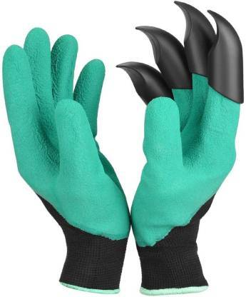 Gardening Gloves, Garden Gloves with Right Hand Fingertips ABS Claws for Pruning, Digging & Planting, One Pair - halfrate.in