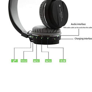 Ekdant® Wireless Headset SH12 Wireless Bluetooth Headphone with FM and SD Card Slot Best Quality - halfrate.in