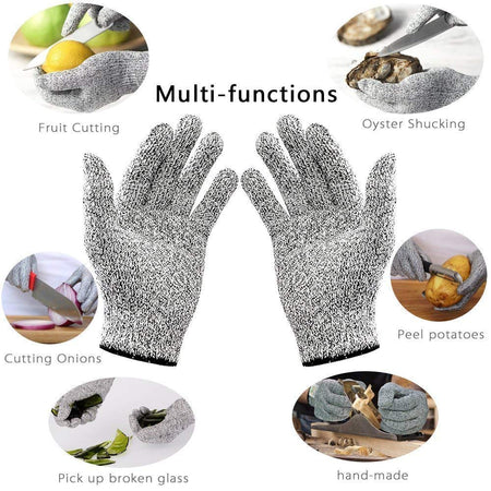 Knife Cut Resistant Nylon, Hand Safety Gloves for Kitchen, Industry, Sharp Items, Gardening, Level 5 Standard Cutting Protection Glove, Multipurpose, (Set of 1 Pair) - halfrate.in