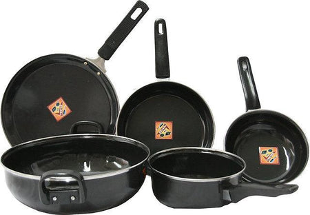 5 pieces nonstick Cook and Serve Set - Enamelware - halfrate.in