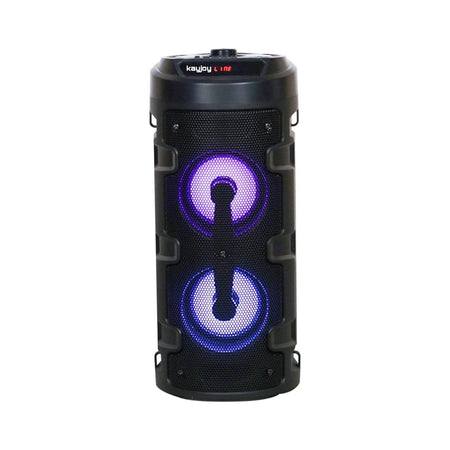 Ekdant® Big Karaoke Bluetooth Party Speaker with Vivid Light Effects Remote, Built-in Amplifier & Mic Supports Bluetooth | USB | SD Card | FM | Mobile| PC | Aux |(Black)