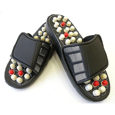 Ratehalf® Yoga Paduka/Acupressure Therapy Sandals/Foot Massager Slipper/Acupressure Foot Relaxer/Rotating Acupressure Foot Slippers for Men & Women - halfrate.in