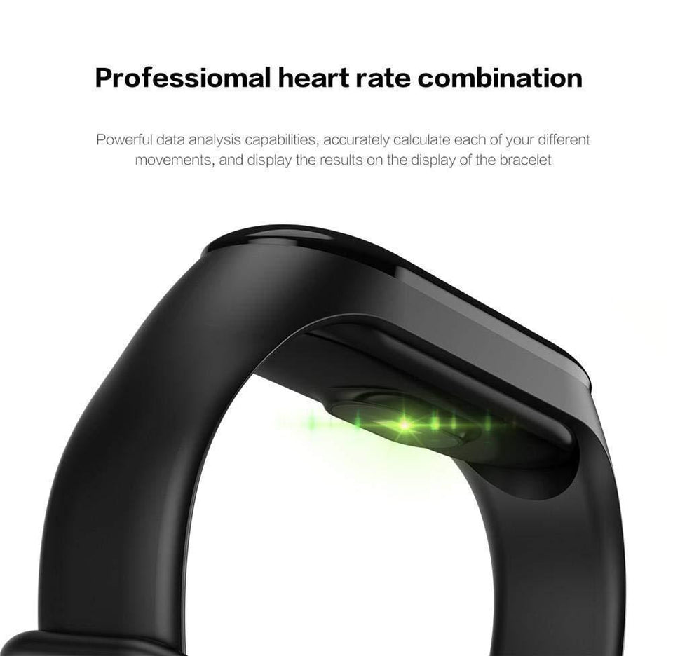 Ratehalf® M3 Band Bluetooth 4.0 Sweatproof Smart and Sleek Fitness Wristband with Heart Rate Monitor Tracker Blue Light - halfrate.in