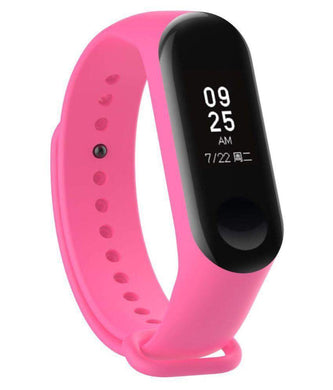Ratehalf® M3 Band Bluetooth 4.0 Sweatproof Smart and Sleek Fitness Wristband with Heart Rate Monitor Tracker Pink - halfrate.in