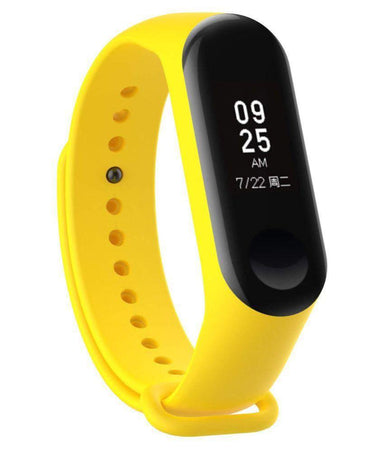 Ratehalf® M3 Band Bluetooth 4.0 Sweatproof Smart and Sleek Fitness Wristband with Heart Rate Monitor Tracker Yellow - halfrate.in