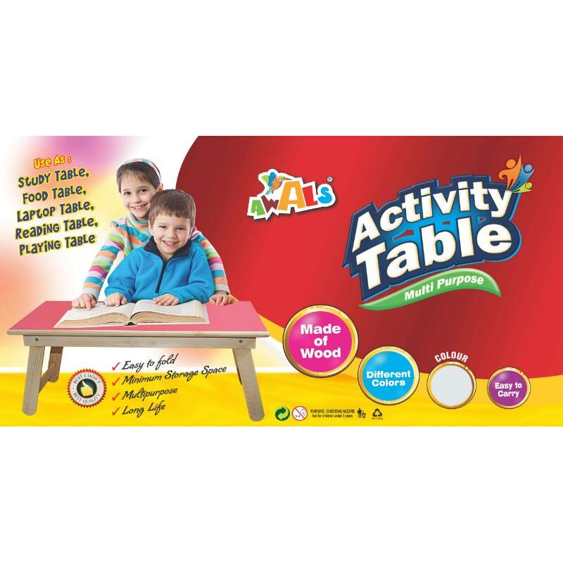 High Quality Multi Purpose Activity Wooden Base Folding Table - halfrate.in