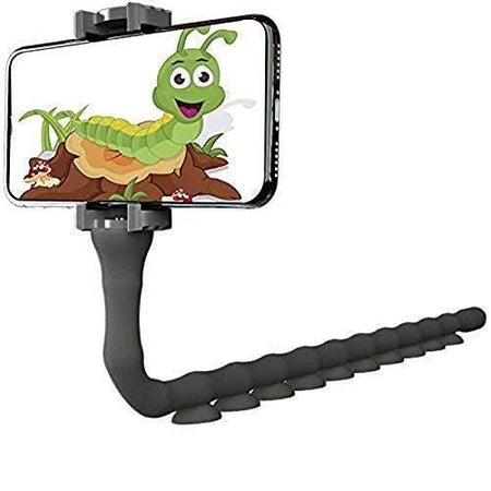 Cute Worm Snake Smart Cell Phone Holder with Long Arms Mobile Phone Mount Desktop Bed Lazy Bracket Mobile Stand Support All Mobiles
