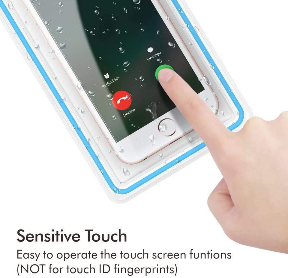 Transparent Plastic Underwater Waterproof Dust Proof Touch Sensitive Pouch Phone Case for Rain and Water Protection  All Smartphone upto 6.5 Inch
