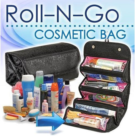 Roll N Go 4 in 1 Cosmetic Bag Toiletry Organize jewellery - halfrate.in