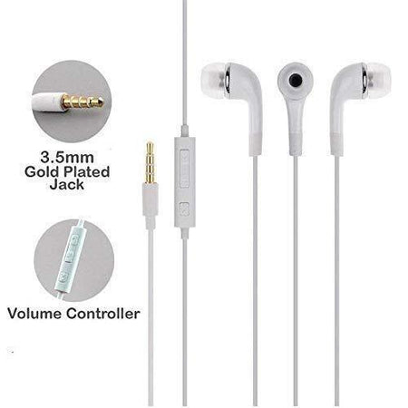 Ekdant® Universal High quality YR In Ear Wired Earphone 3.5 mm Jack and Microphone for Samsung, Oppo, Vivo and many other brands Phones - halfrate.in