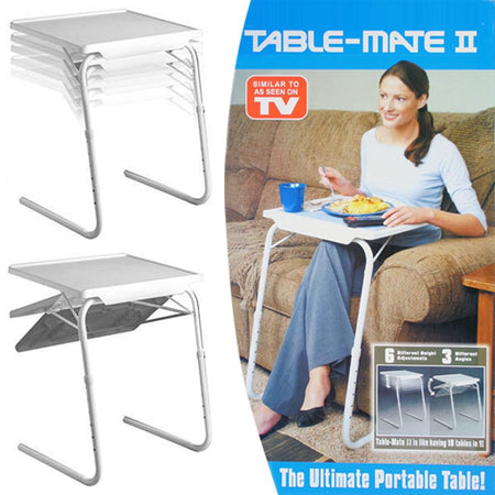 TABLE MATE II PORTABLE ADJUSTABLE DINNER CUM LAPTOP TRAY STUDY TABLE MATE II - halfrate.in