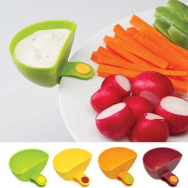 2 pcs Dip Clips - Plate Clips, Sauce Clips, Dipping Clips, Condiment Clips - halfrate.in