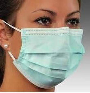 10 pcs Disposable Earloop Medical Face Masks Three Layer, 3 Ply Non-Woven Face Mask, Dust Mask Virus Protection - halfrate.in